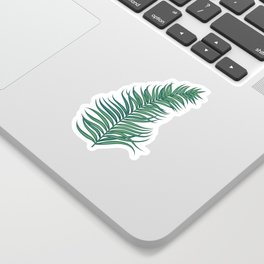 Night tropical palm leaves Sticker