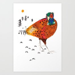 Mr Pheasant Art Print