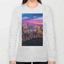 Sunset City (Color) Long Sleeve T-shirt