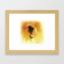 Girl with the Sunshine Framed Art Print