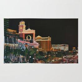 Las Vegas Strip Oil On Canvas Rug