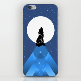 Howling Wild Wold iPhone Skin