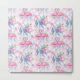 Flamingo Love  Metal Print
