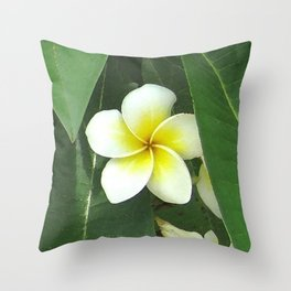 Plumeria Extreme Throw Pillow