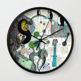 """""""Toucan and penguins"""" Wall Clock"""