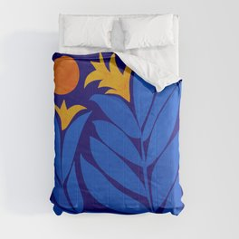 Community Garden At Night / Pop Botanical Comforters