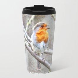 Angelic Robin Watercolor Travel Mug