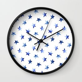 Starry || watercolor Wall Clock