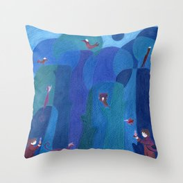 Finding someone special Throw Pillow