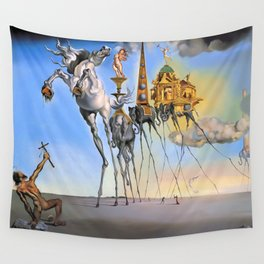 Salvador Dali The Temptation of St. Anthony 1946 Artwork for Wall Art, Prints, Posters, Tshirts, Men, Women, Kids Wall Tapestry