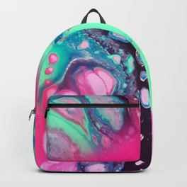 Watermelon Madness Acrylic Pour Backpack