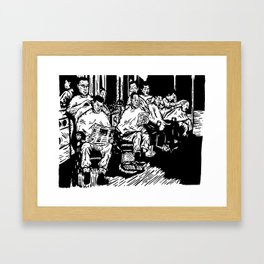 Pacific Gold Barbershop Framed Art Print