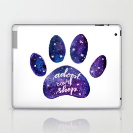 Adopt don't shop galaxy paw - purple Laptop & iPad Skin