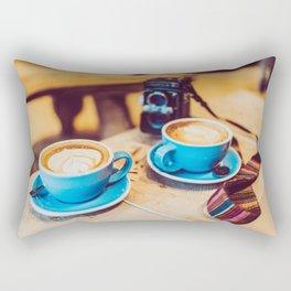 Cameras and Coffee Rectangular Pillow
