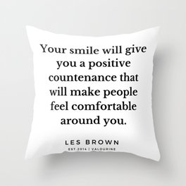 29    Les Brown  Quotes   190824 Throw Pillow