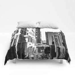 Pike Place (B+W) Comforters