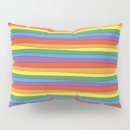 Horizontal Rainbow Stripes Pillow Sham