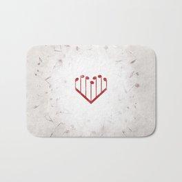 Music Heart gray Bath Mat