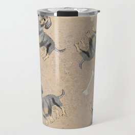 Dachshund pattern Travel Mug