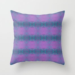 Dreamy turquoise and purple spirals  Throw Pillow