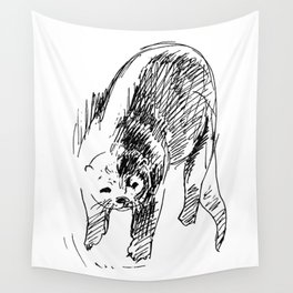 Otter in lines Wall Tapestry