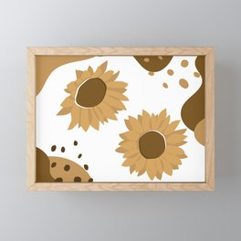 A Pair Of Sunflower, Golden Version Framed Mini Art Print