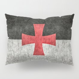 Knights Templar Flag in Super Grunge Pillow Sham