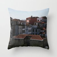 portugal Throw Pillows featuring Porto Portugal  by Sanchez Grande