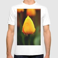 Wet tulip MEDIUM Mens Fitted Tee White