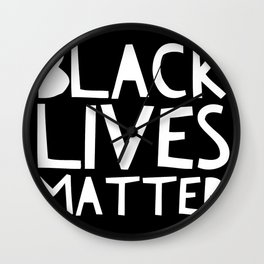 Black Lives Matter 3 Wall Clock