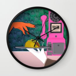 Taco Tuesday or forever Wall Clock