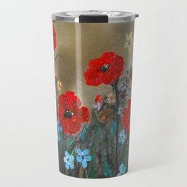 Impasto Red Poppy Love Garden Travel Mug