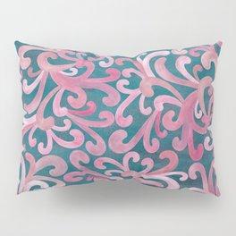 Pink on Green - Paisley Pillow Sham