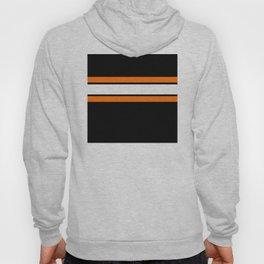 Team Colors...Orange , white stripes with black Hoody