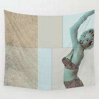 marilyn Wall Tapestries featuring marilyn  by Rosa Picnic