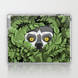 Lemur hiding in plants Laptop & iPad Skin
