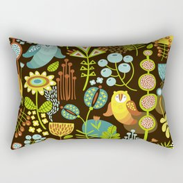 5BF1 Scandinavian Birds Rectangular Pillow