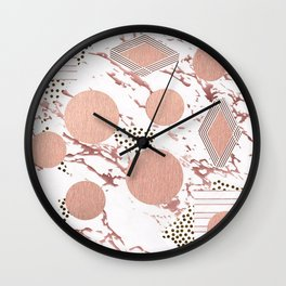 Rose Gold Collage Wall Clock