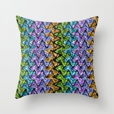 Native Wave Digital Painting Throw Pillow