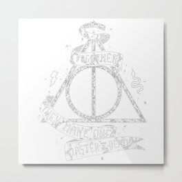HarryPotter and the Deathly Hallows Metal Print