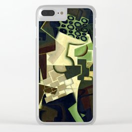 "Juan Gris ""Compotier et nappe à carreaux (Fruit Dish on a Checkered Tablecloth)"" Clear iPhone Case"