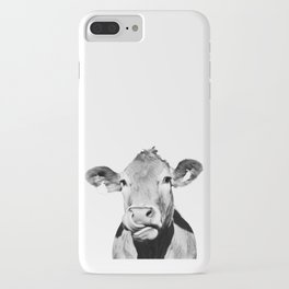 Cow photo - black and white iPhone Case