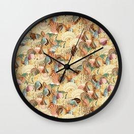 Sea shells pattern 2 Wall Clock