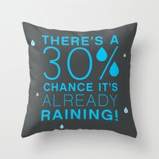 There's a 30% chance that it's already raining.- Quote from the movie Mean Girls Throw Pillow