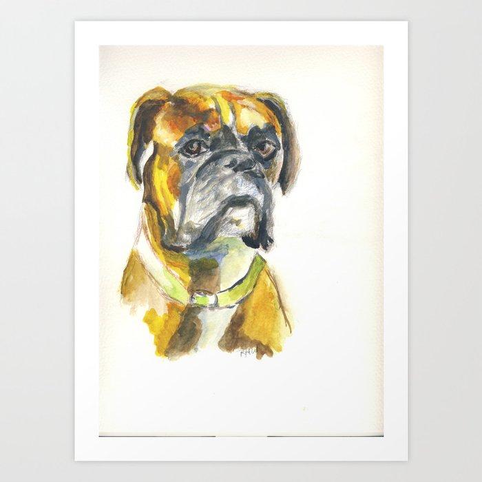 Happy Boxer Art Print