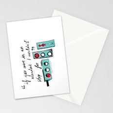 Red Lights. Stationery Cards
