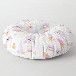 90s sweet girly pattern Floor Pillow