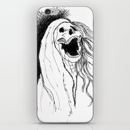 Screeching Skeleton banshee iPhone Skin
