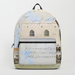 Doge's Palace, Venice Italy Backpack