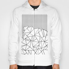 Abstract Grid #2 Black on White Hoody